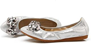 LaBiTi Womens Flats Comfort Ballet/Ballerina Walking Fold-up Shoe for Working/Daily Dress