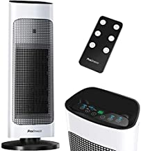 Pro Breeze Space Heater with Digital LED Display, 1500W Tower Heater with Remote Control, Energy Efficient ECO Mode, 80° Oscillation, 24hr Timer, Adjustable Thermostat - Space Heater for Large Room