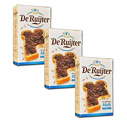De Ruijter Chocoladehagel Melk - Milch Schokoladen Streusel,3-er Pack (3x400g)