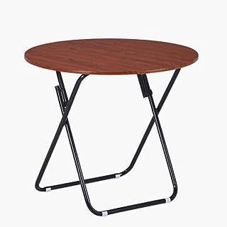 HBJP プラスチック製の折りたたみ式テーブル、小さなダイニングテーブル、軽量の丸型折りたたみ式テーブル、3つのサイズがあります 折りたたみ式テーブル (サイズ さいず : 60×70cm)
