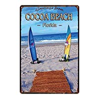 COCOA BEACH メタルポスター壁画ショップ看板ショップ看板表示板金属板ブリキ看板情報防水装飾レストラン日本食料品店カフェ旅行用品誕生日新年クリスマスパーティーギフト