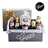 Gepp's Feinkost Genuss Geschenkbox   Geschenkkorb gefüllt mit köstlichen Delikatessen, hergestellt nach eigener Rezeptur   Köstliches Gourmet-Geschenk für Frauen