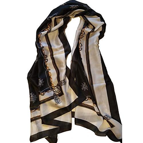 Women Silk Feeling Scarf | luxury Brand Ladies Sunscreen Shawls Wraps | Newest Design Silk Fashion Scarf