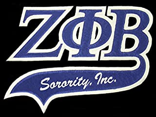 Zeta Phi Beta Sorority Letters Swoosh Logo Emblem Patch Small