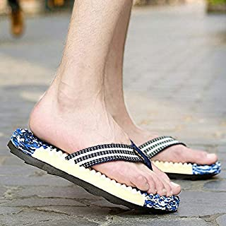 Men Sport Flip Flops Comfort Casual Thong Sandals Outdoor Summer Beach Shoes (Color : Blue, Shoe Size : 41)
