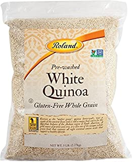 Roland Foods White Quinoa, Pre-washed, Specialty Imported Food, 5 Lb Bag