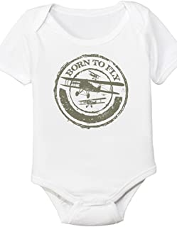 Born To Fly, Aviation Themed Baby Onesie (6 Month)