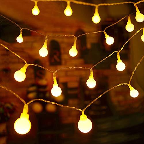 YCDZ - Cadena de luces LED de cuento, funciona con pilas, decoración romántica, Navidad, Halloween, boda, cumpleaños, decoración, [Clase energética A +++] (10 m, 80 luces, color cálido)