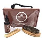 Tackjoke - Set de cuidado de barba para hombres y barba para hombres con rodillo de barba y peine para el cuidado de la barba