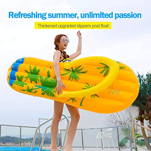 Augproveshak Aufblasbare Flip-Flops Pool Float, kreative aufblasbare Poolliege für Erwachsene, Swimming Pool Inflatable Float, Spielzeug
