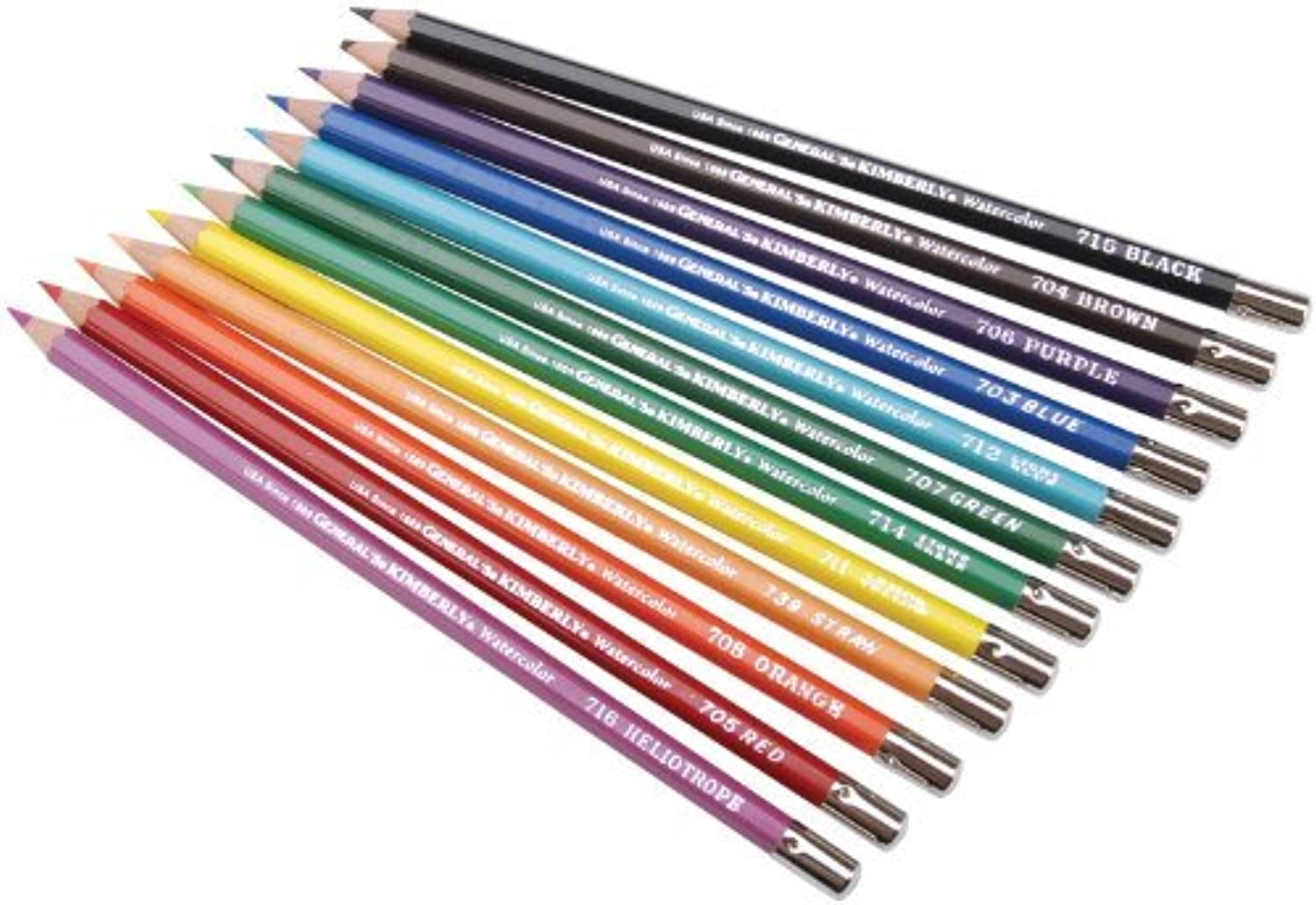 General Pencil 639394 Kimberly Watercolor Pencils with Assorted colors  12Package by General Pencil
