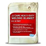 [PREMIUM] 6x8 ft Heavy Duty Welding Blanket [850GSM Thick] Fiberglass, Fire Retardant Weld Curtain, Safety Welding Shield, Weld Blanket - JJ CARE