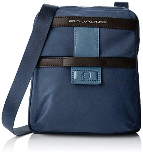 Piquadro Borsello Collezione Orion Borsa Messenger, Poliestere, Blu, 26 cm