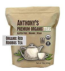professional Anthony's Red Rooibos Organic Leaf Tea, 1 lb, Gluten Free, Non-GMO, Non-Irradiated, Keto …