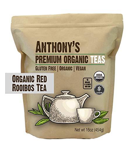 Anthony's Organic Red Rooibos Loose Leaf Tea, 1lb, Gluten Free, Non GMO, Non Irradiated, Keto Friendly