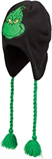 Black and Green Reversable Grinch Peruvian Style Knit Beanie