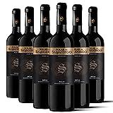 Solar de Samaniego – Vino Tinto Crianza 2017 Denominación de Origen Calificada Rioja, Variedad Tempranillo, 13 meses en barrica – Caja de 6 botellas x 750 ml – Total: 4500 ml