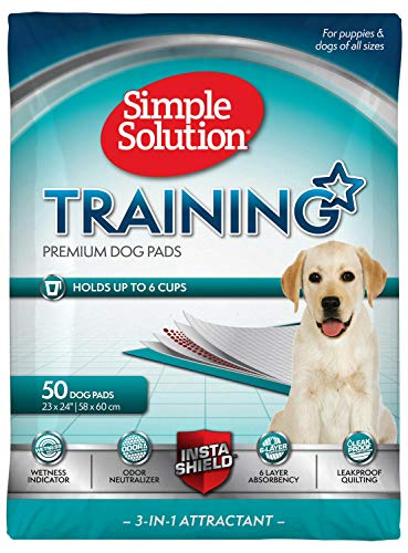 Simple Solution Training Pads for Dogs, Premium, 23x24 Inch (150 ct)
