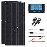 XINPUGUANG 100W Flexible Solar Panel 12V 200W Solar Kit Monoctrystalline Module 20A Charge Controller Extension Cable for Battery...