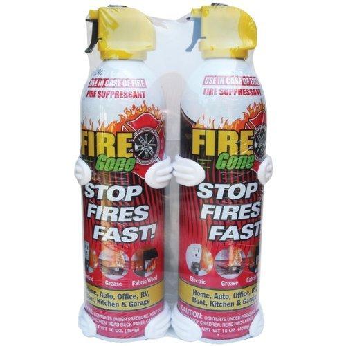 Fire Gone 2-Fg-7209 Fire Gone Supressant 16 Oz W/ Bracket (2 Pk) by Fire Gone