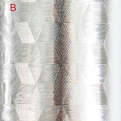 Kitchen Oil Waterproof Sticker Selbstklebende Kabinettsküche Anti-Öl-Aufkleber Kitchen Anti-Oil Sticker Smoke-Proof Tile Wall Affixed Aluminum Foil Tinfoil Thickening Anti-Schimmel Öl Resistent (B)