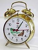 Sveglia meccanica, motivo: gallina in metallo dorato, orologio regalo manuale, quadrante 10 cm