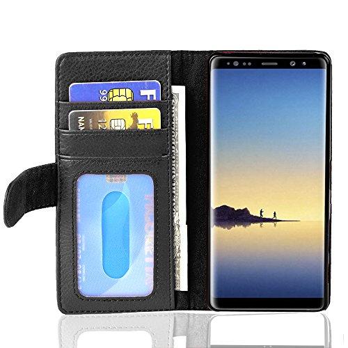 Cadorabo Funda Libro para Samsung Galaxy Note 8 en Negro ÓXIDO -...