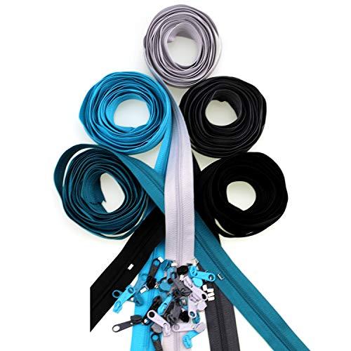 ZIPP AND SLIDE 3 mm Reißverschluss 12,5 Meter Farbset´s Endlossreißverschluss Farbe Set-Nr. 7
