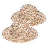 F Fityle 2X Sombrero de Paja Hechos a Mano para Muñecas de 60cm