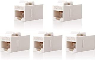 CAT5e Keystone Coupler,VCE (5-Pack) RJ45 Female to Female Insert Coupler UTP CAT5e Keystone Inline Coupler -White