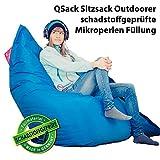 QSack Sitzsack Outdoorer mit Toxproof Mikroperlen EPS schadstoffgeprüft und Sitzsack...