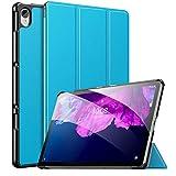MoKo Funda Compatible con Lenovo Tab P11 11' TB-J606 Tableta, Ultra Slim Ligera Función de Soporte Protectora Plegable Cover Cubierta Durable Auto Sueño/Estela, Azul Claro