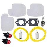 Hipa 530057925 Air Filter Fuel Line Kit for Poulan P3314 P3816 P3416 P4018 PP3416 PP3516 PP3816 PP4018 PPB3416 PPB4018 PPB4218 S1970 Gas Chainsaw