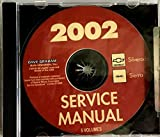 2002 CHEVROLET SILVERADO & GMC SIERRA TRUCK And PICKUP - 5 VOLUMES FACTORY REPAIR SHOP & SERVICE MANUAL CD - INCLUDES - CHEVY