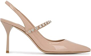 Luxury Fashion | Miu Miu Women 5I006CF085JHRF0236 Pink Leather Heels | Spring-summer 20