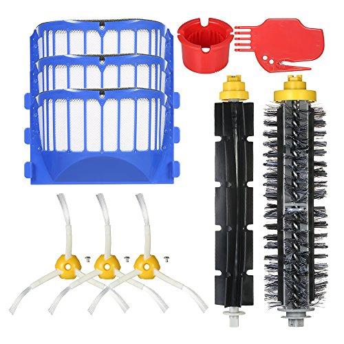 Decdeal 10 pcs Kit de Acessórios de Substituição para iRobot Roomba Série 600 690 691 694 650 651 664 615 601 630 Aspirador