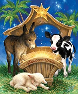 SUNSOUT INC Born in a Manger 200 pc Jigsaw Puzzle