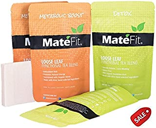 Teatox Detox Tea helps Weight Loss, 28 Days ULTIMATE By MateFit.Me with 100%, Modern Antioxidant Powerhouse Infused Herbal Tea Blend with Body Cleanse and Appetite Control, with a record track of positive user reviews