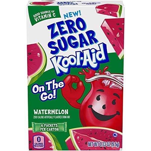 Kool-Aid Zero Sugar Watermelon, 6 On-The-Go Packets!