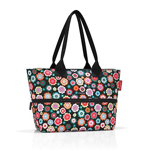 reisenthel shopper e1 Bolsa de tela y playa, 50 cm, 18 liters, Multicolor (Happy Flowers)