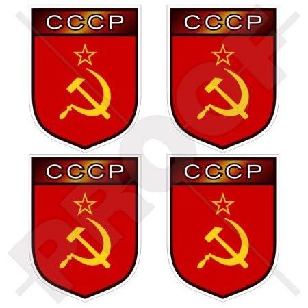 Sowjetunion Russland Udssr Cccp Shield 50 Mm 5 1 Cm Vinyl Bumper Helmet Sticker Aufkleber X4 Garten