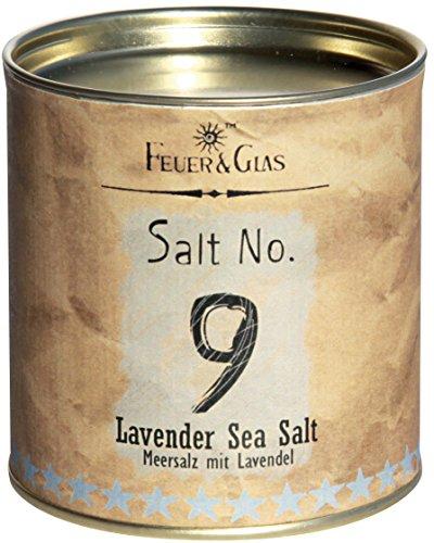 Meersalz mit Lavendel – Lavender Sea Salt No. 9 - Gourmet Salz mit Lavendel – Ideal als Salz-Geschenk – Kostbare italienische Salzflocken – Eine echte Delikatesse aus Italien – von Feuer & Glas