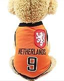 FishBabe Camiseta de la Copa del Mundo de Perros Mascotas Fútbol Jersey Deportes Equipo Nacional Chaleco Gato Verano Ropa Fresca Ropa Holanda 2