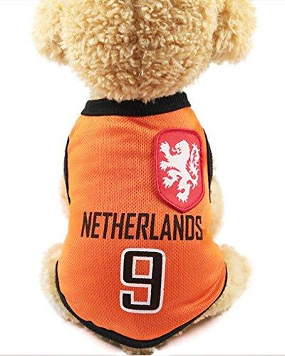 FishBabe Camiseta de la Copa del Mundo de Perros Mascotas de Fútbol Jersey Deportes Equipo Nacional Chaleco Gato Verano Ropa Fresca Ropa Países