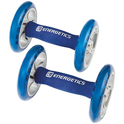 ENERGETICS Bauchtrainer Ab Wheels, Blau/Grau, One Size