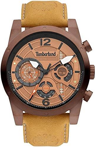 Timberland Reloj Analógico para Hombre de Cuarzo con Correa en Cuero TDWGF2100002