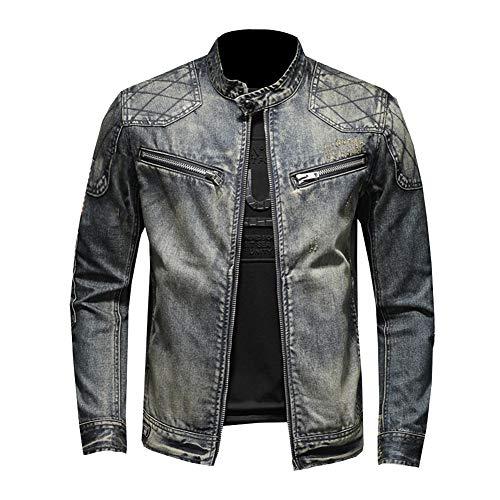 DongBao Rider Jacket Chaqueta Vaquera para Hombre Chaqueta de Moto Primavera otoño