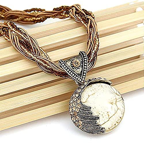 Lnrueg Collar De Estilo Bohemio, Collar De Cadena Vintage, Joyería De Moda para Hombres Y Mujeres, Barra Ajustable Decorativa Retro
