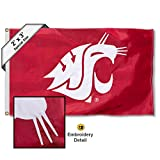 College Flags & Banners Co. Washington State Cougars 2x3 Foot Embroidered Flag