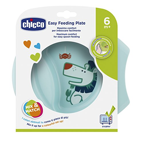 Chicco 00016001200000 Esslernschale Easy, 6M+, blau